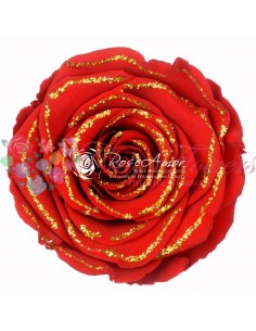XL Red02 gold glitter