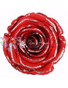 Trandafiri Criogenati Rosu SclipiciArgintiu XLGSilverREd02