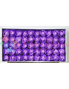 Trandafiri sapun parfumat bicolor mov/lila