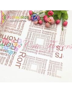 Celofan Transparent Scris Burgundy