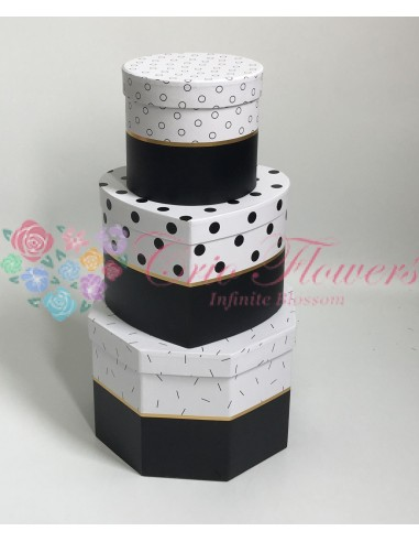 Set 3 cutii Forme Diferite Negru