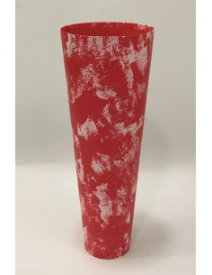 Red Marble Cone Box
