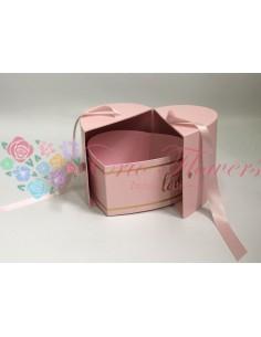 Pink Ribbon Closed Heart Box