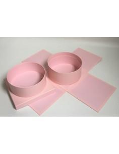 Pink Square Round Box