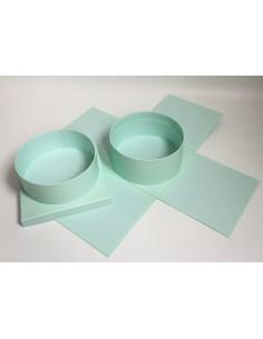 Turquoise Square Round Box