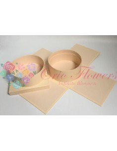 Cream Square Round Box