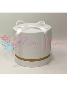 White Round Box