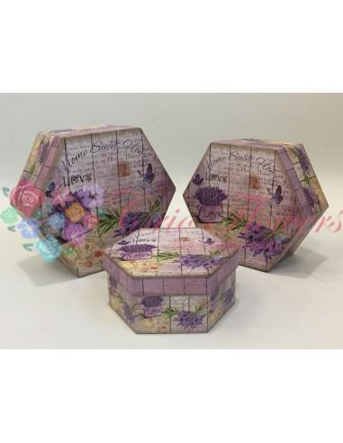 Set 3 Cutii Hexagon HSH