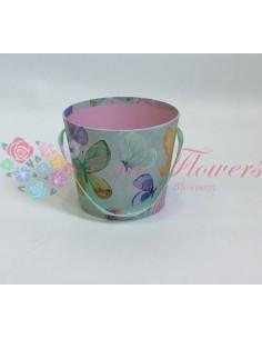 Turquoise Butterflies Bucket Box