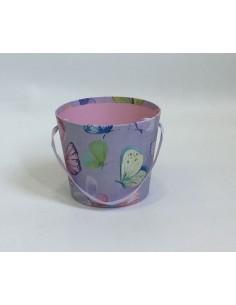 Lila Butterflies Bucket Box