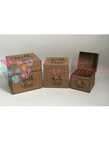 Set 3 Vintage Square Boxes