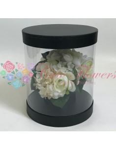 Black Transparent Round Box