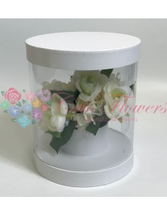 Cutiei Rotunda Transparenta Alb
