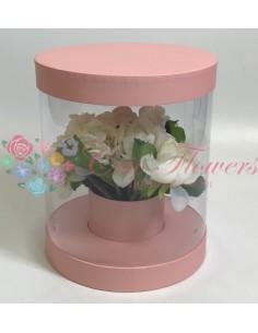 Pink Transparent Round Box