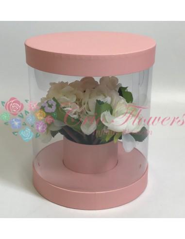 Cutiei Rotunda Transparenta Roz