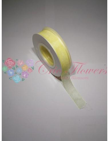 Pale Yellow Organza Ribbon