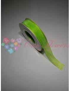 Neon Green Organza Ribbon