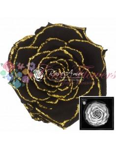 Trandafiri Criogenati Negru Sclipici Auriu BonitaGBla01