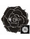 Trandafir Criogenat Negru Sclipici Argintiu BonitaGBla01