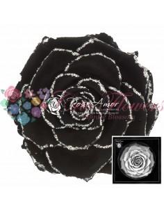 Trandafiri Criogenati Negru Sclipici Argintiu BonitaGBla01