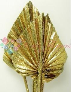 Frunze de Palmier Mini Auriu si Sclipici
