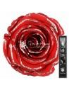 Trandafir Criogenat Tija Rosu Sclipici 30cmGSilverRed01