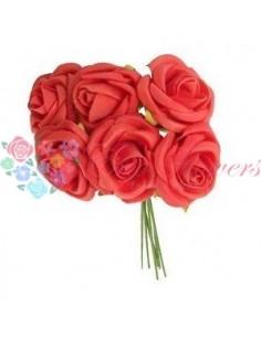 Trandafiri Artificiale Spuma Rosu