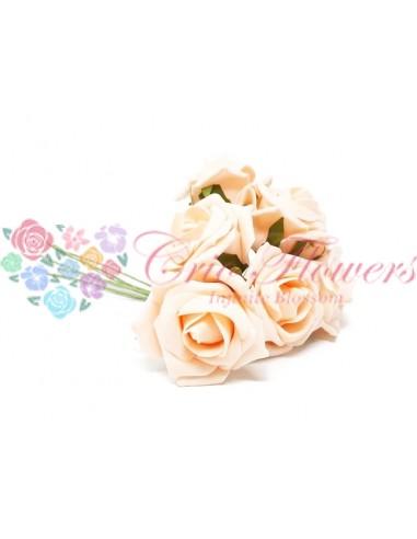 Trandafiri Artificiali Spuma Crem