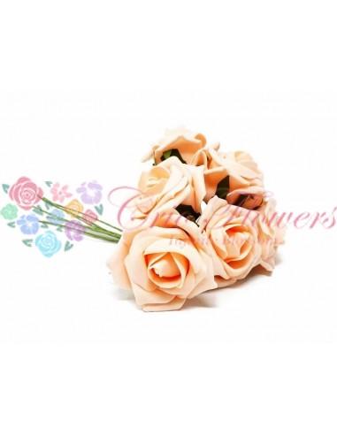 Trandafiri Artificiali Spuma Somon