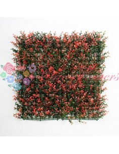 Panou Plante Artificiale 50x50cm A006 Rosu