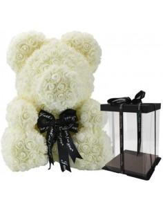 Rose Bear White 25cm