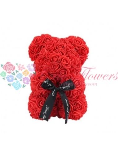 Rose Bear Red 25cm