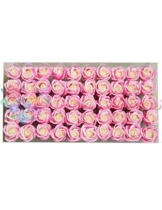 Trandafiri Sapun Bicolor Roz/Alb