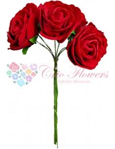 Buchet Trandafiri Spuma Rosu