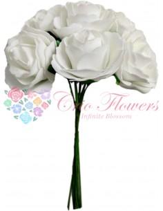 Buchet Trandafiri Spuma Alb