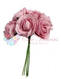 Buchet Trandafiri Spuma Roz