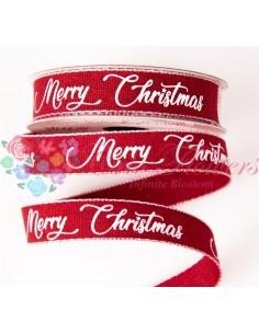 Panglica Rosu Merry Christmas